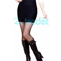 Mini Falda Color Negro Unitalla Para Travesti