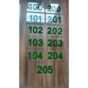 Placas Porta De Apartamento Acrílico Cristal & Números 3d