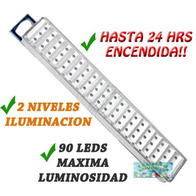 Lampara De Emergencia 90 Leds, 24hrs Encendida 2 Niveles Nvd