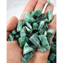 Lote Com 20 Pedras De Esmeralda Natural Polida