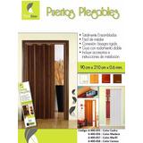 Puerta Plegable Flexidoor, Color Madera Y Cedro