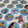Stickers Candy Bar Golosinas Personalizadas Hoja A4 X 4