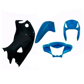 Kit Plástico Carenagem P/ Moto Biz 125 Es Ks Ano 2006 - Azul