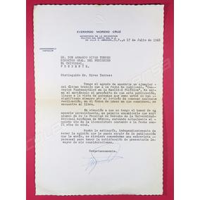 Carta A Director Peridico El Universal 1968 Everardo Moreno