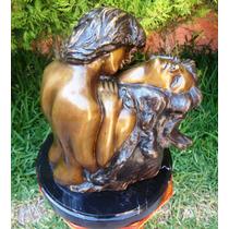 Lrc Escultura Hombre Y Mujer, Amor Y Pasión, Hecha D Bronce.
