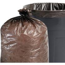 Stout Total Contenido Reciclado De Basura De Brown Bolsas 65