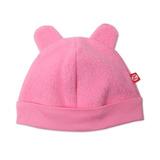 Zutano Bebé Unisex Cozie Fleece Hat, Rosa Fuerte, 6 Meses