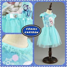 Vestido Espectacular Frozen Azul