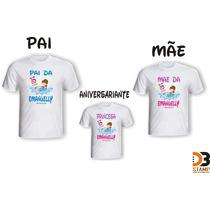 Kit Familia Camisetas Personalizadas Festa Aniversário Filho