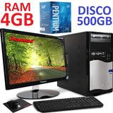 Computador Intel Pentium G4400 500gb Ram 4gb Led 20 Hdmi Pc