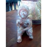 Escultura De Hombre Prehispanico Estilo Antiguo.