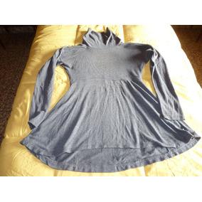Remera Larga Tipo Vestidito Ideal Calzas M - L Gris Topo