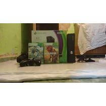 Xbox 360 Slim Com Kinect E Jogos Originais E Modo Hdmi E 3d
