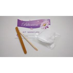 Kit Manicure Descartável Luva Com Creme Lixa Palito De Bambu