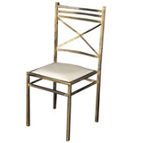 100 Cadeira De Ferro Para Buffet - Ouro Velho 16x16