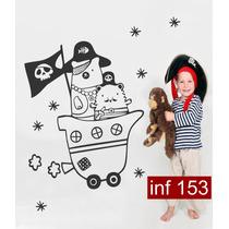 Vinilos Decorativos Infantil Piratas Deco Cuarto Chicos