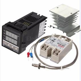 Controlador De Temperatura Pid Pirometro Rex C100 Ssr Tc Dis