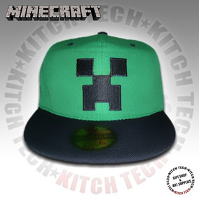 Gorra Minecraft Creeper Gorro Visera Plana
