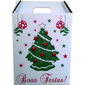 Caixa Cesta De Natal (pacote Com 30 Unidades)