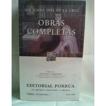 Libro Sor Juana Ines De La Cruz Obras Completas