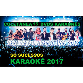 1 Kit18 Dvds Karaokê/2017 Musicas Sertanejo Mpb Pop Rock