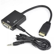 Cable Hdmi A Vga Pc Notebook A Proyector O Monitor Con Audio