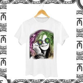 Camiseta Janis Joplin - Camiseta Rock - Camiseta Blues