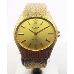 Reloj Rolex De Oro 18k Cellini De Dama Ref: 3802 (49,5 G)