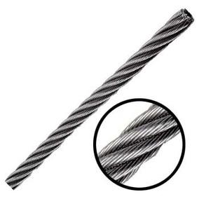 Cable De Acero En Rollo 7x19 1/4 Pulgadas Y 300 Metros Obi