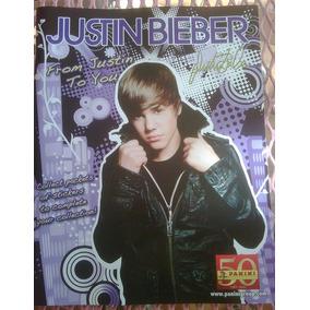 Justin Bieber Album Calcamonias Y Poster Licencia Original