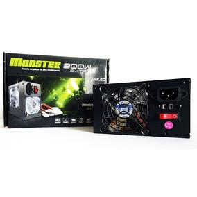 Fuente De Poder Atx Pixxo Monster 800w Doble Ventilador Luz