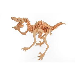 Velociraptor 47 Peças - Quebra Cabeça 3d Dinobrinque