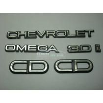 Kit Emblema Omega + Chevrolet + 3.0i + Cd (ke01)