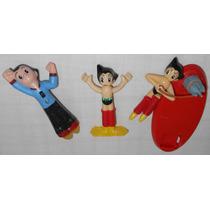 Astro Boy Lote5 Com 3 Action Figures Diferentes Atomu Tezuka