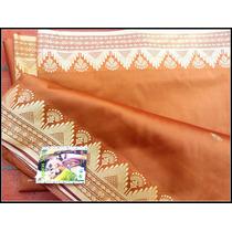 Sari De Algodon Rasado, Importado De La India, Vestido Hindu
