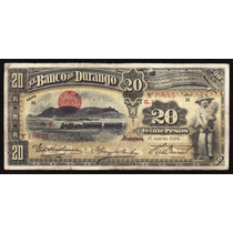 Bk-dur-27 Billete Del Banco De Durango De 20 Pesos