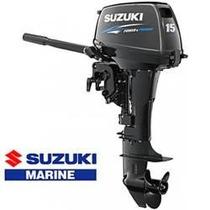 Motor De Popa Suzuki 15 Hp Okm ( 12 X Cartao )