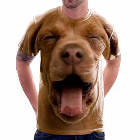 Camiseta Cachorro Brown - Camisa Estampa Total 3d