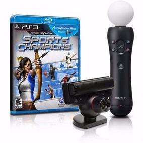Sensor De Movimento Kit Move Ps3 + Jogo Sports Champions