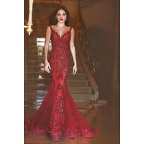 Vestido Luxo Total Importado Madrinha Casamento Formatura