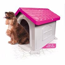 Casinha De Cachorro Grande Desmontável Rosa N° 3 Pet Injet