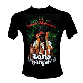 Remera Negra - Zona Ganjah - Reggae Rasta Chala Jose Gahona