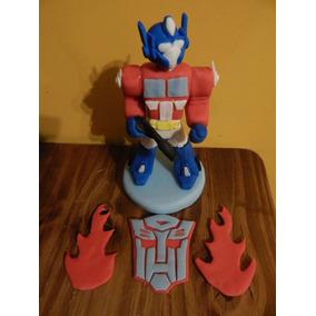 Transformers Porcelana Fria Souvenirs Tortas...