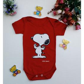 Body Bebê Roupinha Snoopy Vermelho