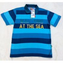 Camisa Polo Puc Juvenil Meia Malha