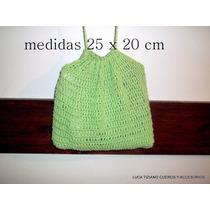 Bolso A Crochet Cuadrado Artesanal