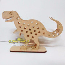 Porta Lápis Dinossauro Em Mdf Cru