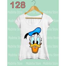 Blusa Tshirt Feminina Estampa Pato Donald Disney Desenho