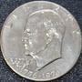 Cumpleaños 1976 Moneda Espejo Chapa Plata Usa Eisenhower Gfx