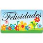 1000 Etiquetas Adesivas Presente Felicidades Sortidas Loja